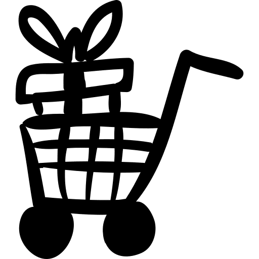 gift in cart icon