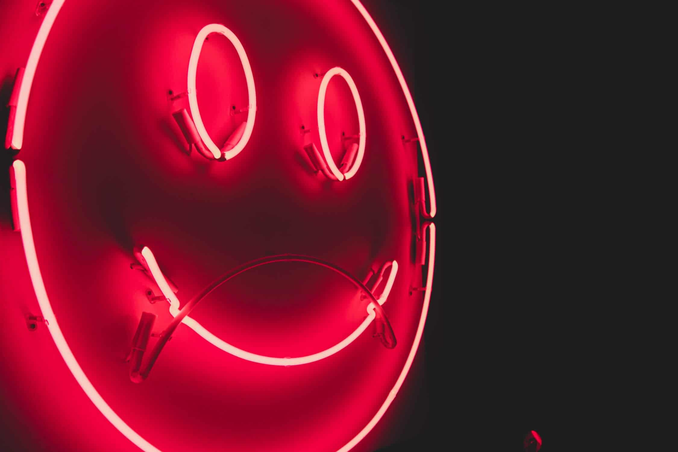 neon smiling face