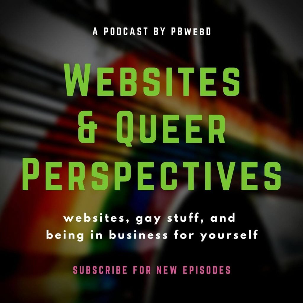 Websites & Queer Perspectives cover art